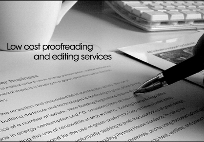 We provide low cost editing services